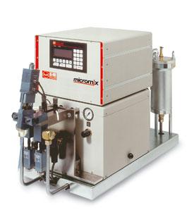 micromix - pneumatycznie napędzane urządzenia dozujące i mieszające z pompami tłokowymi